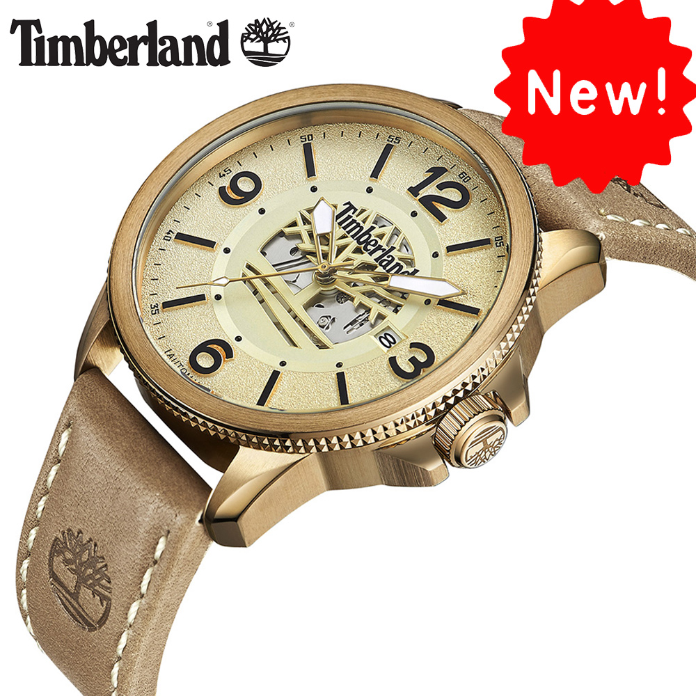 Timberland Original Mens Watches Mechanical Gold Brown Leather Buckle 100M Waterproof Outdoor 2018 Luxury Brand Watches