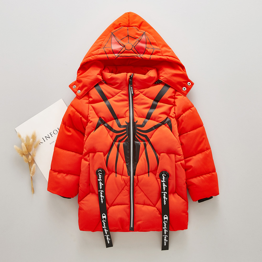 5631ced85c4f 2018 New Baby Boys Hot Sale Winter Coats Children Fashion Cartoon Spiderman Long  Sleeve Hooded Boy Thick Warm Clothes 3 6 Years-in Jackets   Coats from ...
