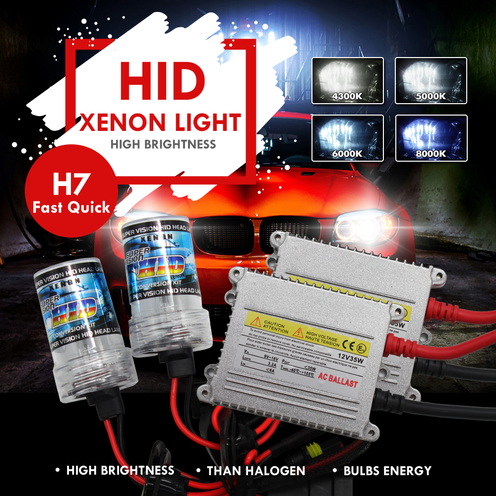 Modifygt Xenon HID Kit Headlight 12V 35W H4 H7 H8 H9 H11 9005 HB3 9006 HB4