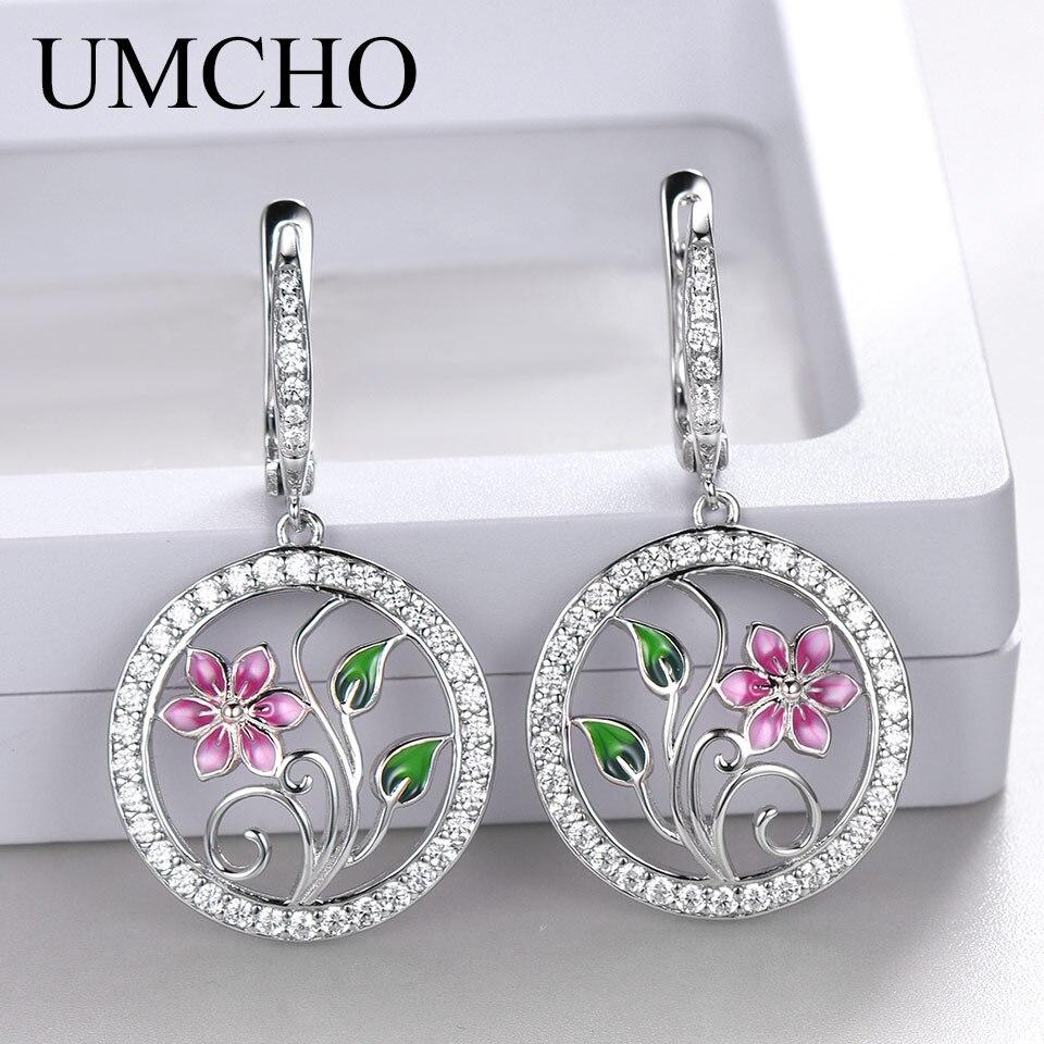 38c8d19245df UMCHO peridoto Natural de piedras preciosas pendientes de botón pendientes  de plata de ley 925 ...