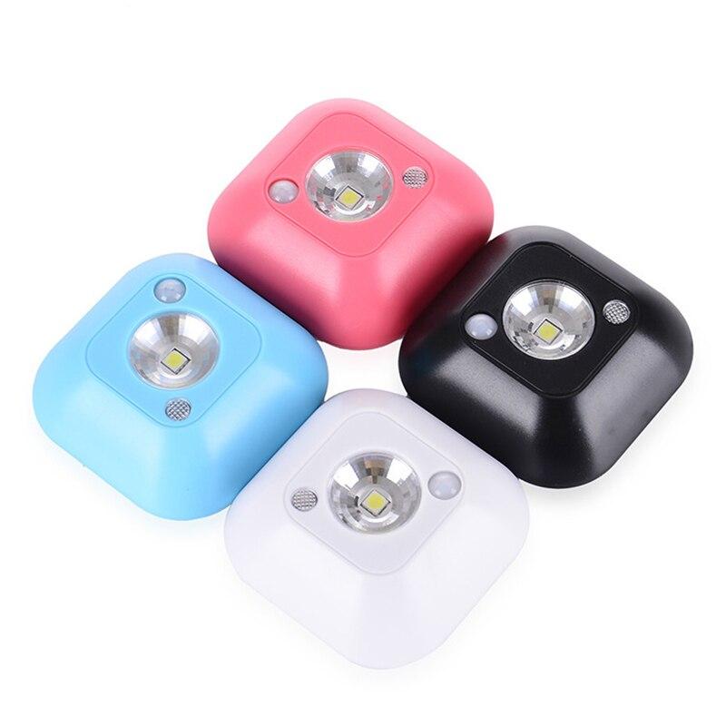 AKDSteel movimiento LED Mini inalámbrico techo lámpara de noche, batería Powered gabinete lámparas con Sensor de movimiento infrarrojo + Luz