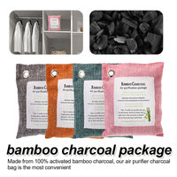 4/6 Pcs Car Home Odor Absorber Bamboo Charcoal Activated Carbon Air Freshener Deodorant Random Colors Activated bamboo charcoal