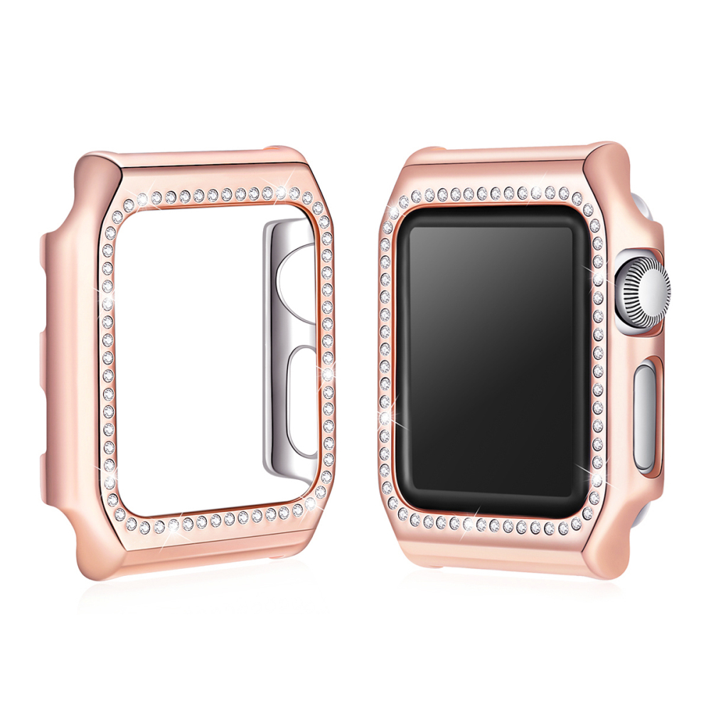 NEW Case for Apple Watch 38mm/42mm PC Hard Cover for Apple Watch case Series 1/2/3 Frame Protect Cover Bling Crystal Diamonds luxury watch case for apple watch series 1 2 3 protect cover hand made by crystal diamond shell for apple watch series iwatch