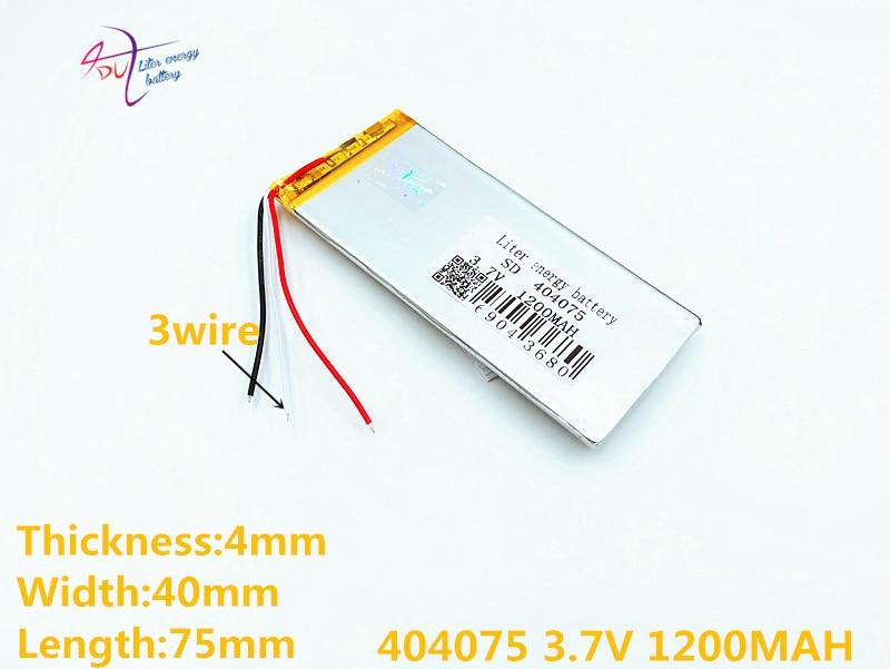 3 Linie 3,7 V 1200 Mah 384075 404075 Lithium-polymer Li-po Li Ionen Akku Für Mp3 Mp4 Mp5 Gps Mobile Bluetooth Digital Batterien Batterien