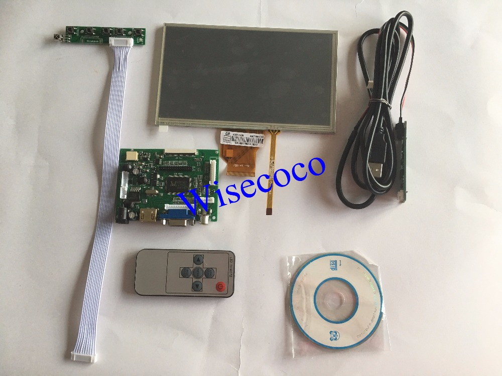 7 inch for Raspberry Pi LCD Display Screen TFT+Touch Screen Monitor AT070TN90 with HDMI VGA Input Driver Board Controller