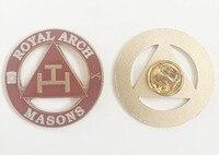 100pcs wholesale Masonic Lapel Pin Freemason Butterfly Clutch Royal Arch Masons Brooches and Pin Craft Diecast enamel with epoxy