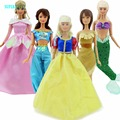 """5x Fariy Tale Dress Princess Gown Outfit Mermaid Fishtail Clothing Clothes For Barbie Doll 11.5"""" 12"""" Puppet Play House Toys Gift"""