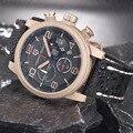 Pagani design utilitario deportivo cronógrafo relojes de los hombres de moda de cuero casual de negocios relojes militares relogio masculino 2016