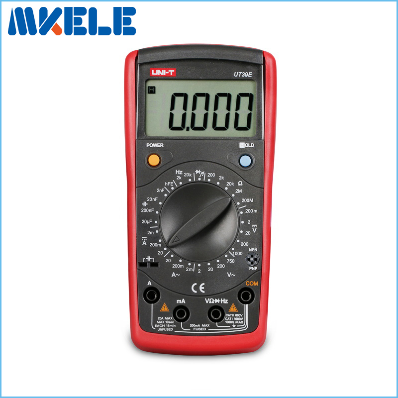 UT39E Handheld Multimeter Ammeter Ohm Volt Meter LCD Count 19999 Digital Multimeter Transistor Data Hold High Precision [randomtext category=