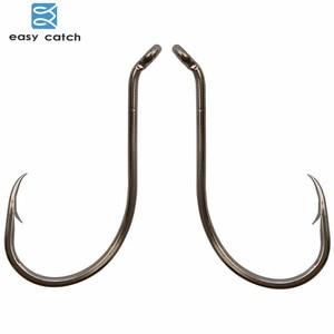 Easy Catch 100pcs 8299 Fishing Hooks Black Offset Octopus Beak Bait for ice carp fishing Fishhooks Size8#-9/0