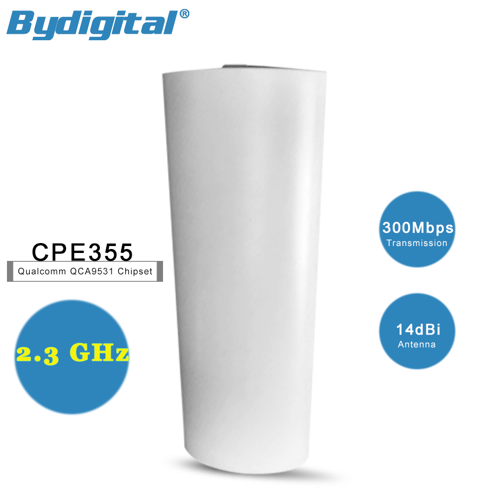 2.3GHz Outdoor CPE Bridge 300Mbps anti-interference Long Distance Wireless Repeater Extender 14dBi wifi Router