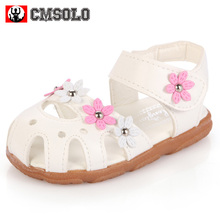 CMSOLO Girls Sandals Pink Shoes For Kid School Casual Walking Shoe Children Lovely Red Outdoor Leisure Footwear Summer 2017White