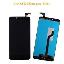 Para zte z max pro z981 display lcd de toque digitador da tela montagem componente + ferramentas