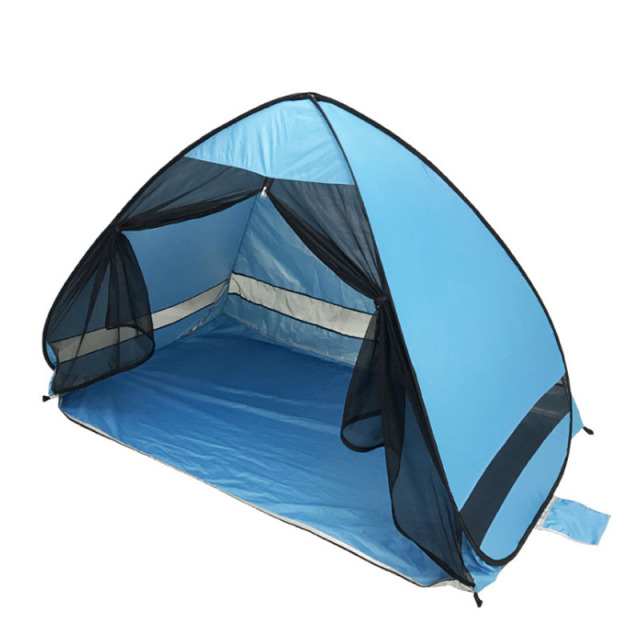 Anti-mosquito beach shade tent with gauze UV protection Automatically camping outdoor portable beach tent with mesh curtain 5