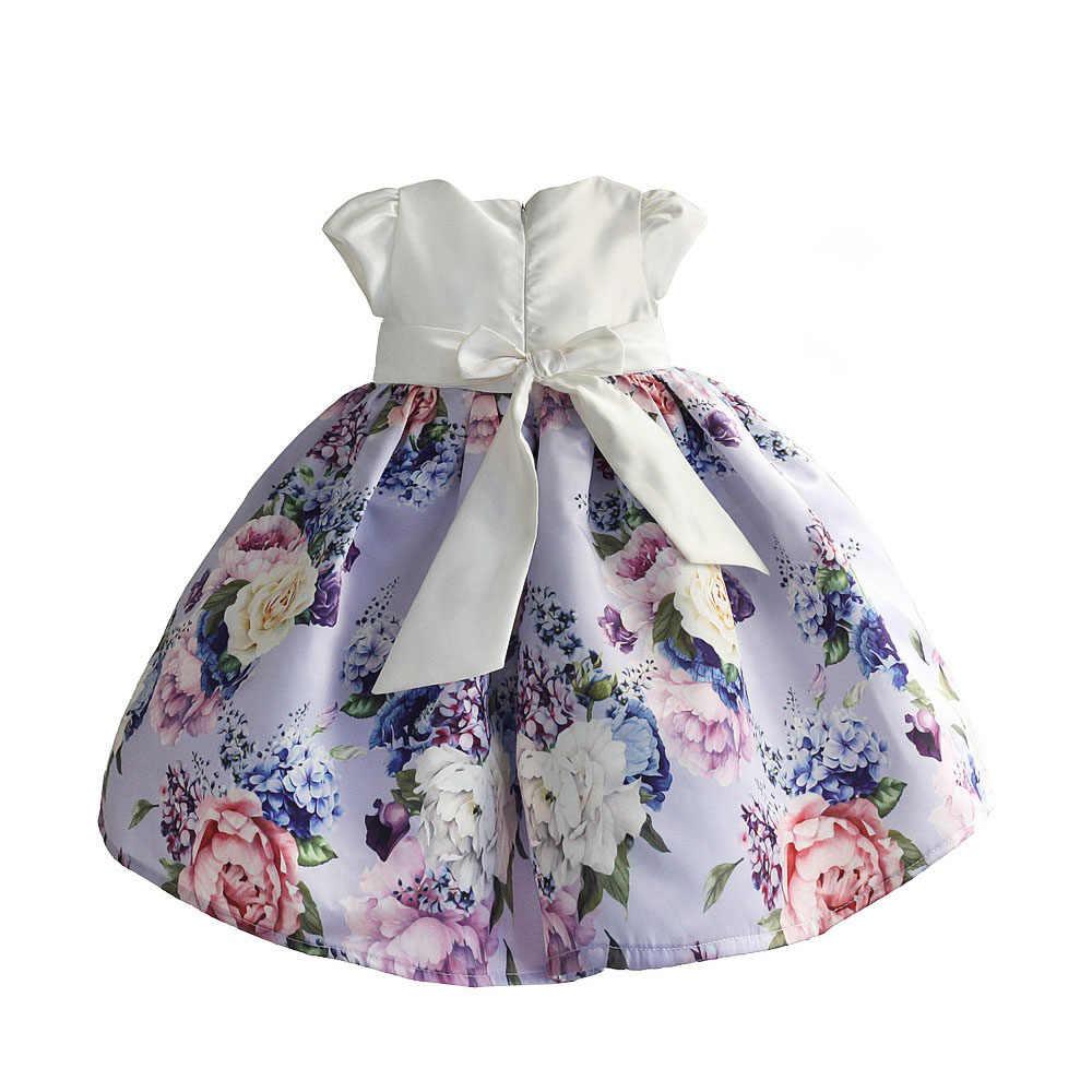 Hetiso, vestido sin mangas para niña, estampado Floral con nudo, vestidos de fiesta para bebé recién nacido, ropa para niños, tamaño 6 M-4 T