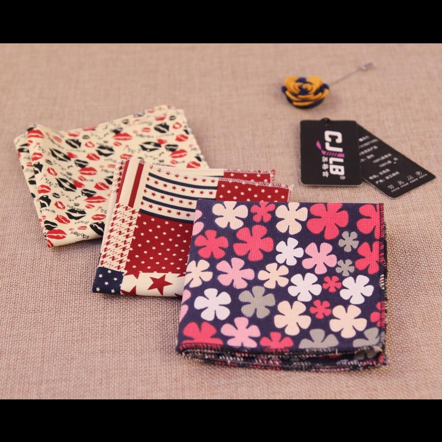 50pcs 37color  Fashion Designer Mens Print Paisley Ladies Vintage Floral Handkerchiefs Pocket Squares Cotton Wedding Accessories