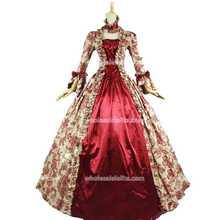 Best продавец Винтаж Платье с принтом 18th века Мария Антуанетта Платье Бальное платье воссоздание театр Костюмы костюм
