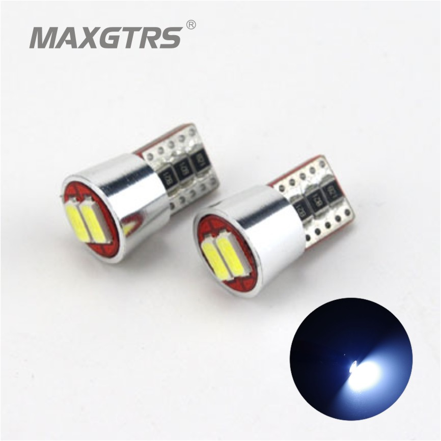 2X Top Quality T10 W5W LED Canbus 2SMD 5730 5630 Pure White Error Free Car Instrument Lights Auto Dashboard Lamp 194 168 501 high t10 canbus 10pcs t10 w5w 194 168 5630 10 smd can bus error free 10 led interior led lights white 6000k canbus 300lm