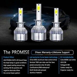 Image 2 - 2PCs 9 36V LED C6 Car  Headlight LED Light 36W Automatic Headlamp 6000K Light H1 H3 H7 H11 H13 9004 9005 9006 36W 3800LM Bulb