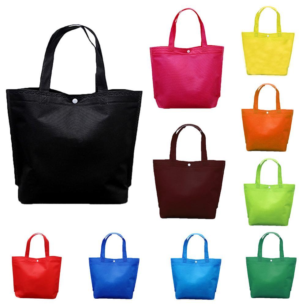 2019 New Lady Foldable Shopping Bag Reusable Tote Pouch Women Travel Storage Handbag Shoulder Bag Female Canvas Shopper Bags