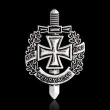 WWII WW2 булавка и брошь бронзовая древняя серебряная немецкая армейская Военная булавка вермахт значок шапка Сумка Одежда нагрудная булавка мужские ювелирные изделия