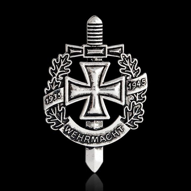 Вторую мировую войну WW2 булавка и брошь бронза тела древних Серебряная Пособия по немецкому языку военный вермахт на булавке значок шапка Сумка Одежда штырь отворотом Для мужчин ювелирных украшений