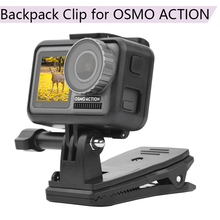 Buy 360 Rotary Backpack Clip Bracket Clamp Portable Carrying Mount Fixed Adapter Holder for DJI OSMO Action Sport Camera Parts directly from merchant!