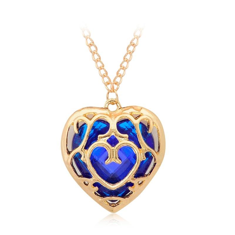 Zelda Heart Container Necklace: Bespmosp The Legend Of Zelda Sunshine Blue Red Movie Heart