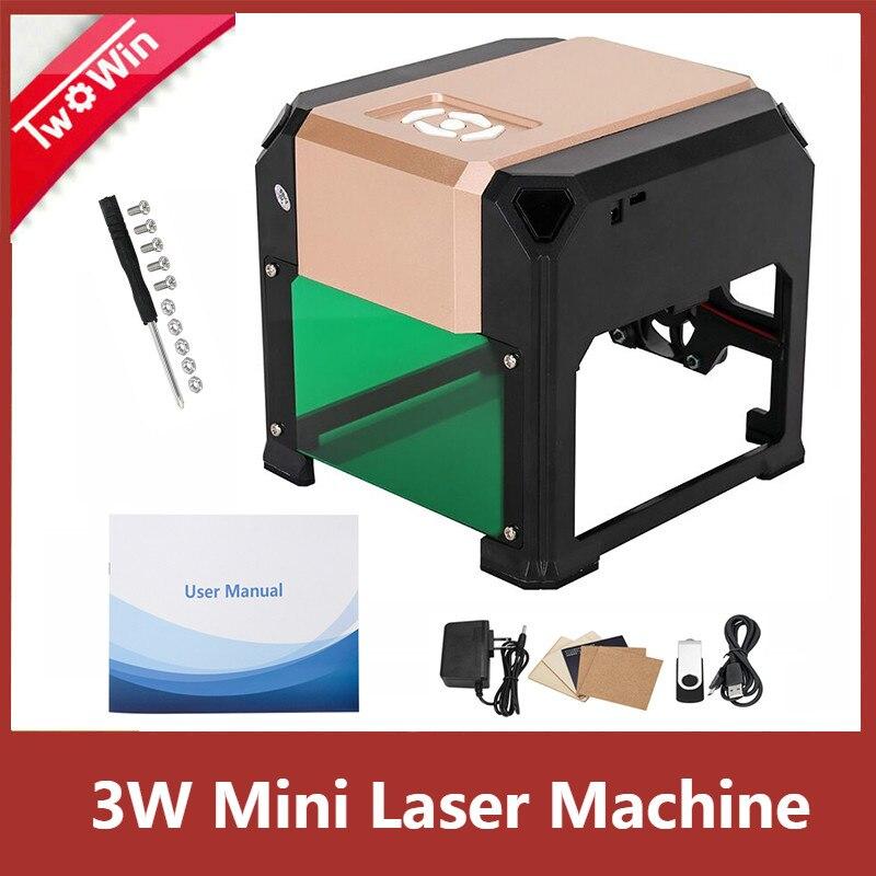 3000 mW Automatique Type Haute Vitesse machine de gravure laser USB bricolage Sculpture Graveur Artisanat Bois Des Outils De Gravure