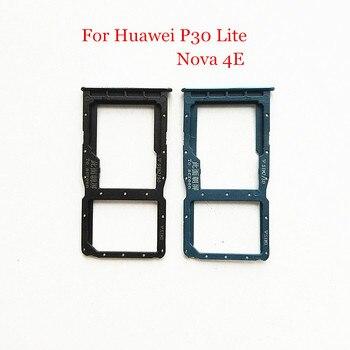 10pcs/lot SIM Card Tray Slot Holder Adapter for Huawei P30 Lite / Nova 4E Nova4E Phone Spare Parts