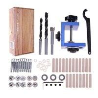 Woodworking Hole Jig Kit Pocket Drill Step Drill Bit Stop Collar Wood Mini Kreg Style Drilling