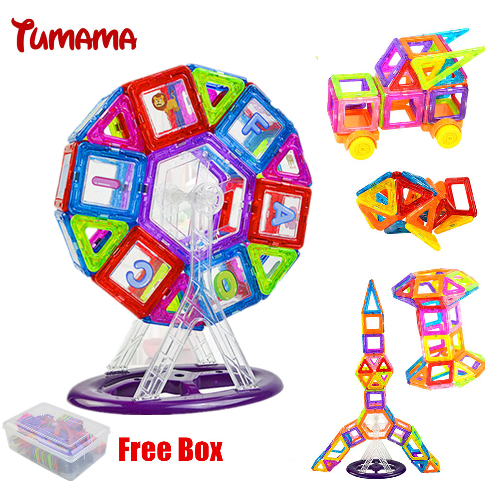 58PCS Mini Ferris Wheel Magnetic Blocks Building Blocks Kits 3D Construction Designer Set Children DIY Educational Kids Toys espeon 214 pcs mini castle magnetic blocks building blocks kits 3d construction designer set children diy educational kids toys