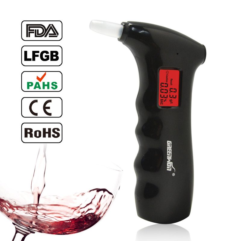 Mini police Alcohol Tester Breathalyzer Alcohol Detector with Red Backlight Digital alcohol tester LCD Display Alcohol analyzer