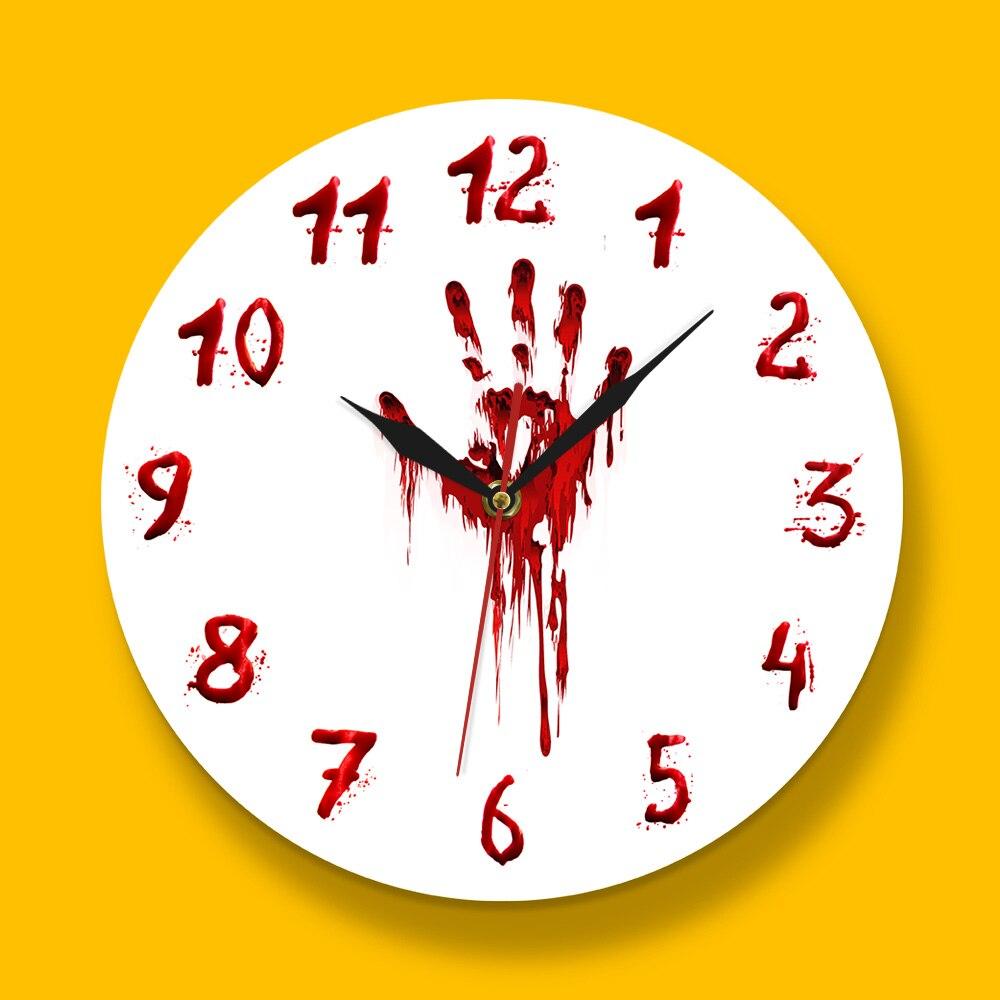 Horror Room Decor Wall Clock
