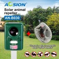 Buy AOSION Solar Ultrasonic Animal Birds Dogs Cats Repeller Repellent Got Ultrasonic Spider Repeller For Free