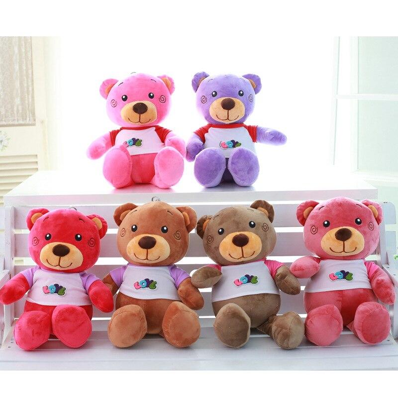 55 см Подлинная медведь с одеждой Мягкая ПП хлопка плюшевые игрушки подарок на день рождения красочные медведи Куклы Свадебные мероприятия ...