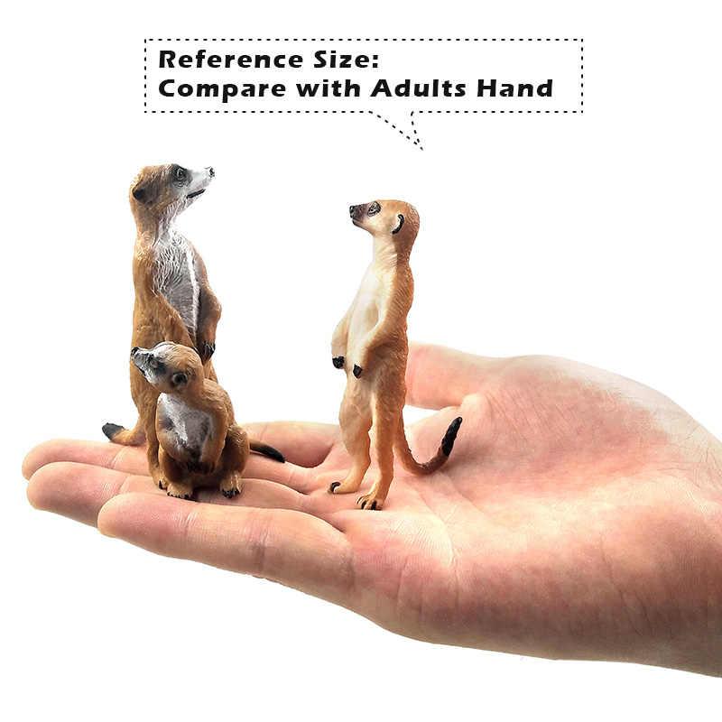 Simulação modelo animal Bonito Pequeno Meerkat plástico figura estatueta decoração de casa acessórios de decoração moderna Presente Para As Crianças brinquedos