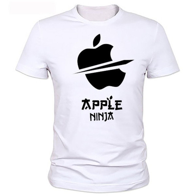 An arrow through a heart personality  Apple cartoon Printed Men's T-Shirt T Shirt For Men New Short Sleeve O Neck Casual Top Tee