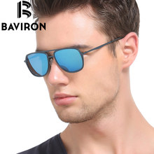 BAVIRON Classic Aviator Sunglasses Men Mirrored Polarized  Driving Glasses High Fashion Design Women Hipster Sun Glasses 8035