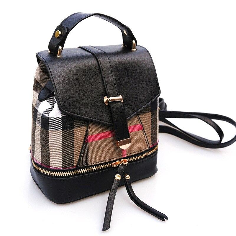 2017 Hot new Women s Cartoon boy PU leather mini backpack girls school backpack small women