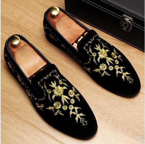 Italian Men Design gold flower