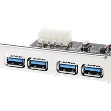 4 포트 PCI E USB 3.0 허브 PCI Express 확장 카드 어댑터 5 Gbps 속도