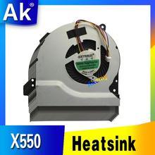 Akemy Новый cpu охлаждающий вентилятор для ASUS X550 X550V X550C X550VC X450 X450CA X450V X450C A450C K552V A550V MF75070V1-C090-S9A кулер