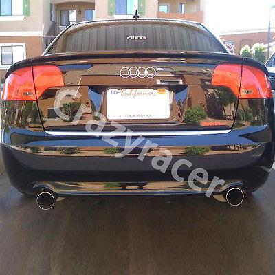 Rear Trunk Lip Spoiler Wing For Audi A4 B7 Carbon Fiber Abt Style