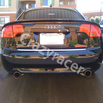 Rear Trunk Lip Spoiler Wing For Audi A4 B7 Carbon Fiber ABT Style 3PCS 2005 2008