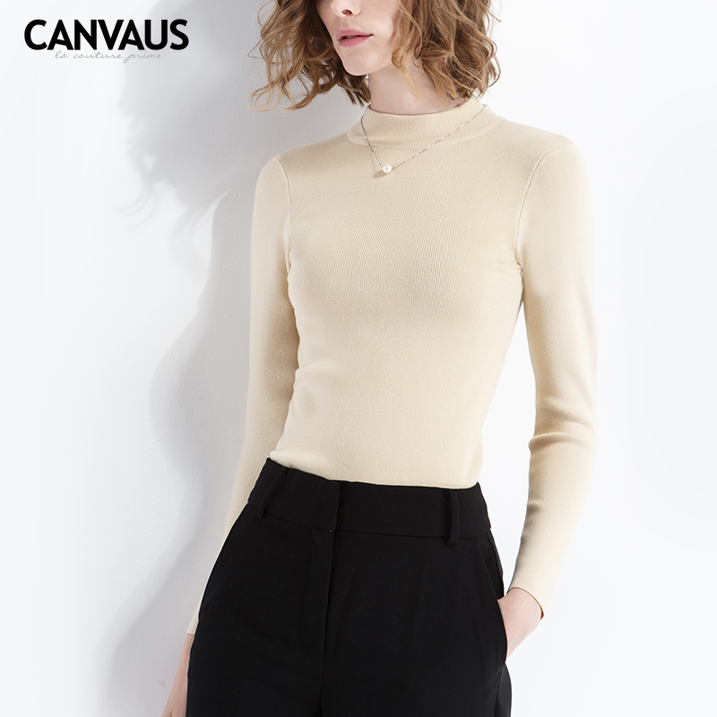 CANVAUS new basic sweater,girl underware sweater,soft touch clothing ,original new,women basic sweater,women pullovers,FS143A
