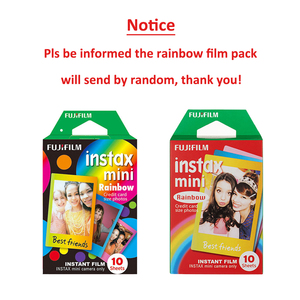 Image 2 - For Fujifilm Instax Mini 8 9 Camera Film Sheets Pack   30 Exposures Instant Mini Photos    Rainbow , Shiny Star , Stripe Frame