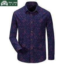 2018 Brand Shirts Men Military Plus Size 3XL Shirt Men 100% Cotton Lon