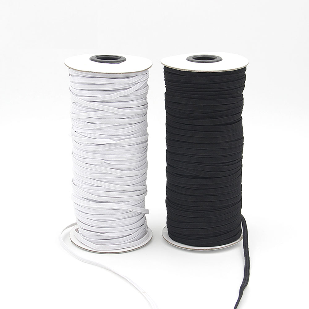 New High Quality 1 x 10m Of White Elasticated Sewing Thread
