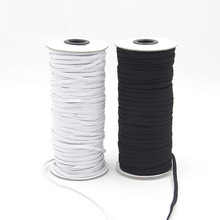 10M Black White Elastic Flat Band Elastic Rope Rubber Belt Pants Elastic Band Clothing Baby Clothing Accessories cheap Rubber and Polyester Width 3mm 6mm Length 10Meters Home Textile Bags Shoes Garment
